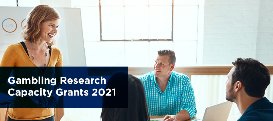 banner with Gambling research capacity grants 2021